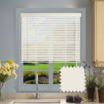 Textured Cream Aluminium venetian blind